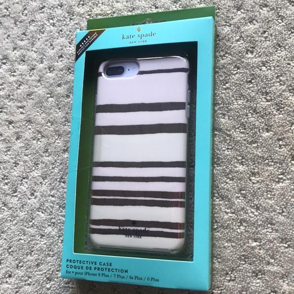 super popular 041f9 41a12 New Kate spade iPhone 7 8 plus case skin stripes NWT